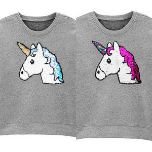 OSHKOSH Flip Sequin Unicorn Sweatshirt